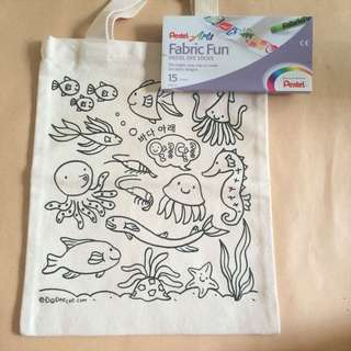 New Fabric Paint Tote Bag