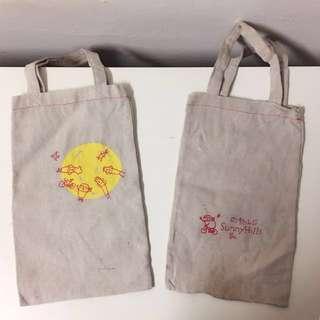 二手微樂山丘小提袋&全新陶板環保袋/水壺袋/鞋袋便宜出清~