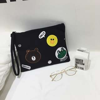 LINE Friends Clutch Bag / Pouch / Wristlet