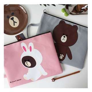 LINE Friends A4 Document Bag / Laptop Bag / Laptop Casing / File / Organiser