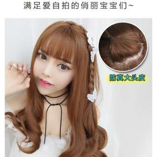 PO Real human hair curly ladies full wig * waiting time 10-15 days after payment is made *pm if int