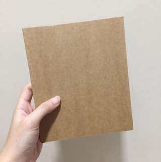 Brown blank notebook
