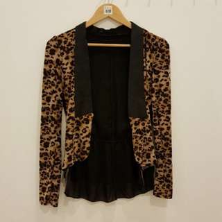 Outer / cardigan leopard