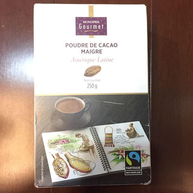 法國🇫🇷帶回 公平交易100%純可可粉 巧克力粉 #可換物
