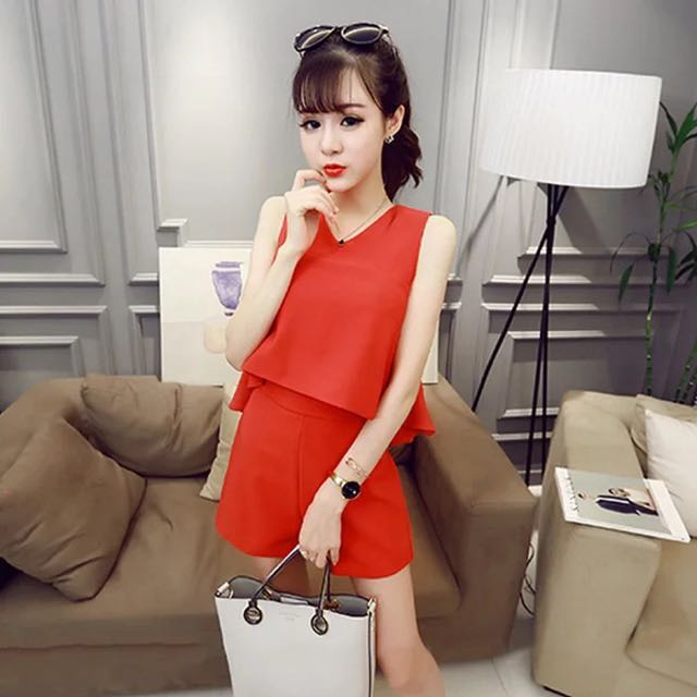 上衣+下褲(紅)