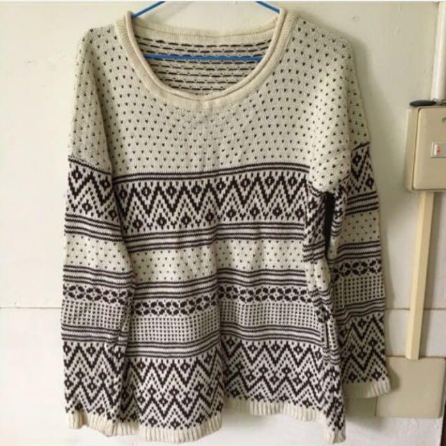 圖騰針織毛衣