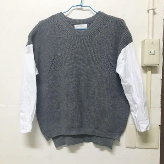 接袖針織毛衣