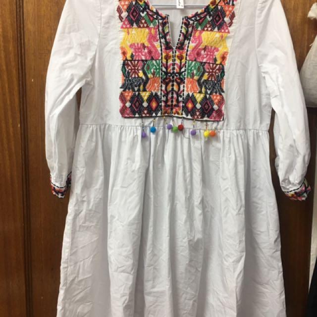 民族風刺繡洋裝