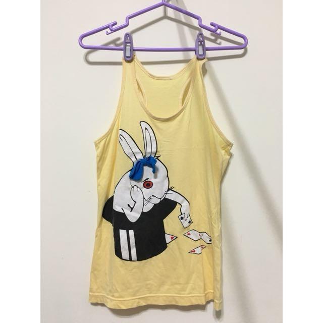 泰國設計師品牌🐰愛麗絲兔子立體挖背背心