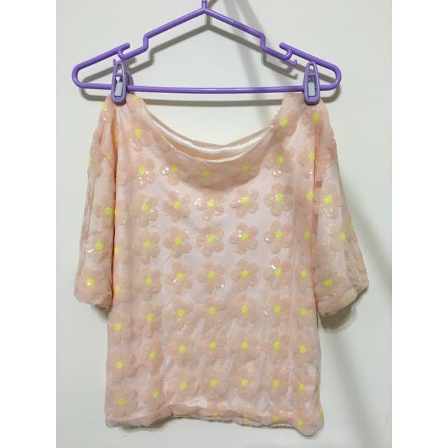 心花朵朵🌸小雛菊手工縫製亮片設計款上衣