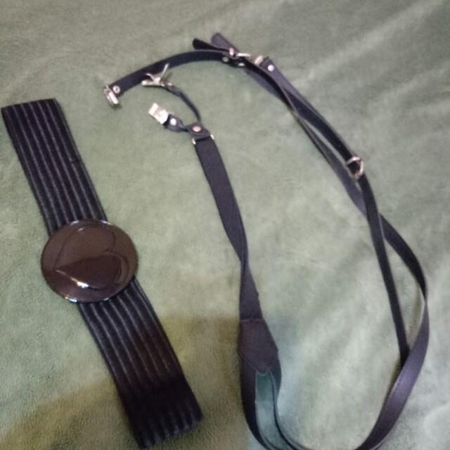 文青吊帶和腰封
