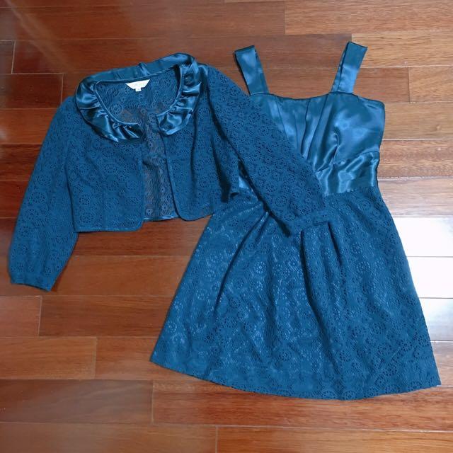 氣質典雅湖水綠洋裝