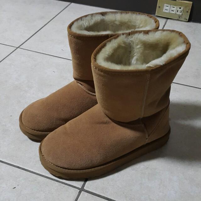 真皮雪靴 9號