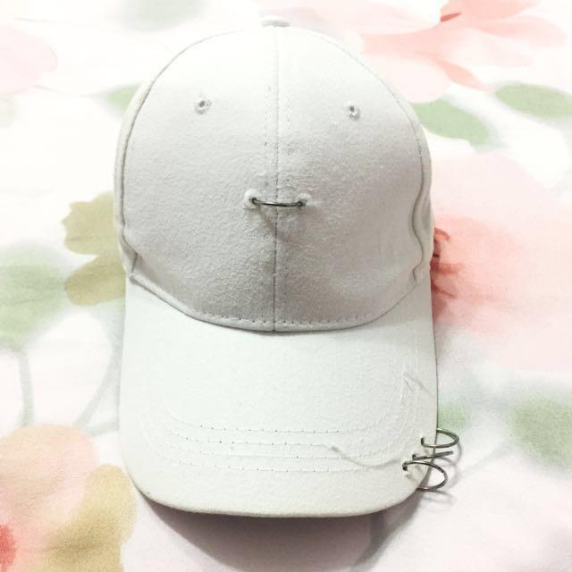 降🔥白色日系原宿風圈圈老帽 棒球帽