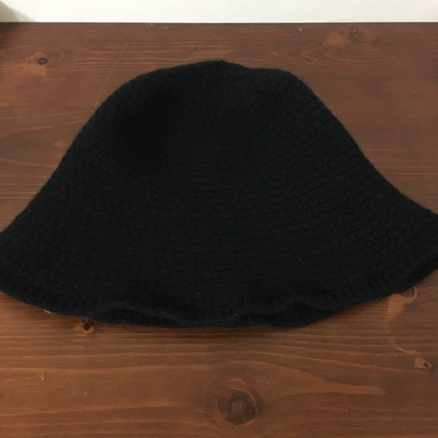 黑色溫柔針織漁夫帽 #好物任你換