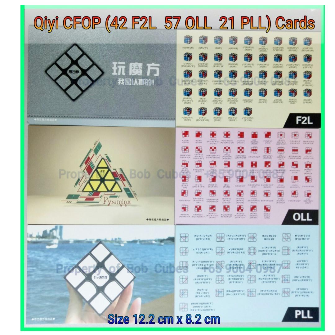 - Qiyi CFOP Algorithms cards (42 F2L 57 OLL 21 PLL) for sale  -  Brand New !