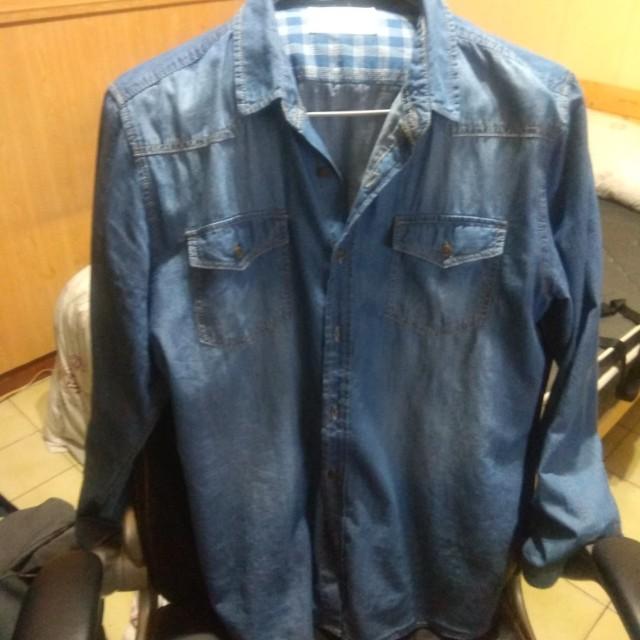 牛仔襯衫 XL 極新
