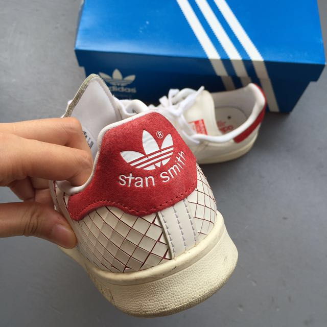 Adidas Original Stan Smith Suede Trimmed Laser Cut leather