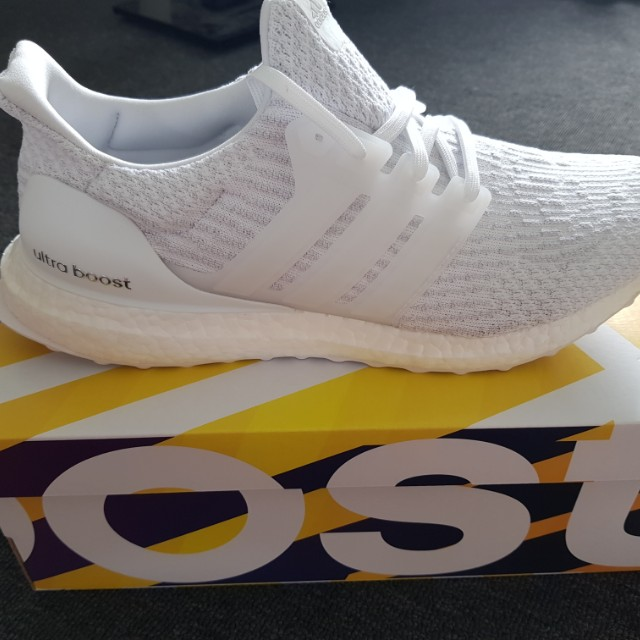 Adidas Ultraboost White/White/Crystal Size 10.5us New