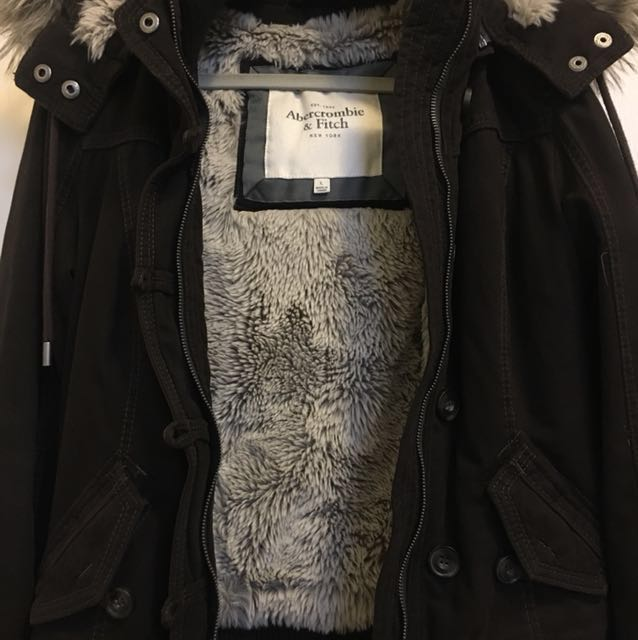 A&F Fur lined jacket