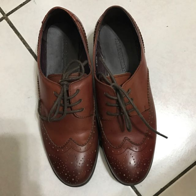 ALLEGREZZA 酒紅色牛津鞋