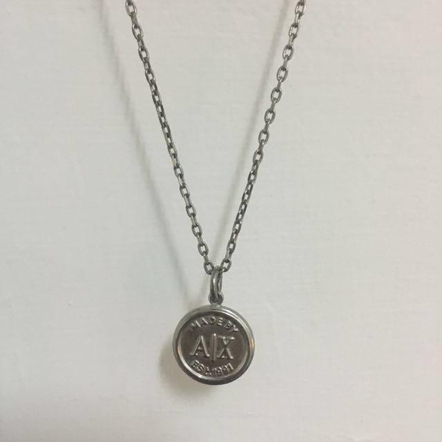 【Armani Exchange】基本款吊牌項鍊