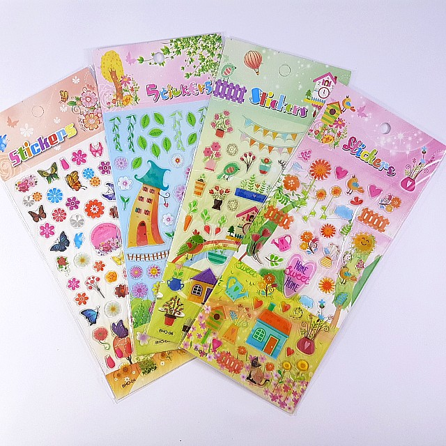 Assorted Clear Embossed Stickers