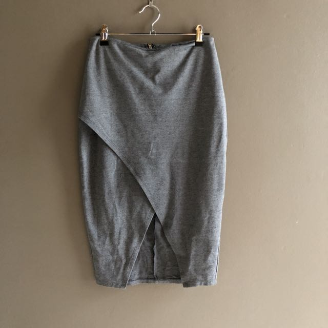 Atmos and Here grey pencil skirt