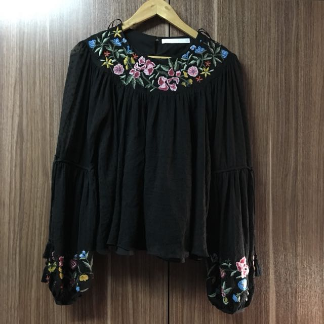 Authentic Zara Embroidered Top