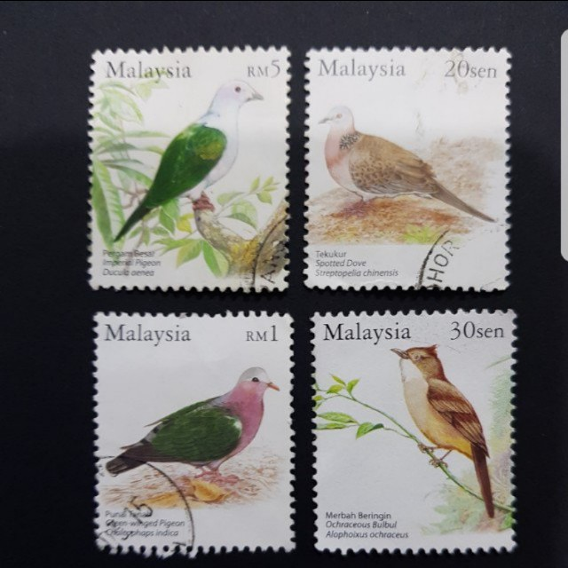 Birds Of Malaysia 2005 Vintage Collectibles Stamps Prints On
