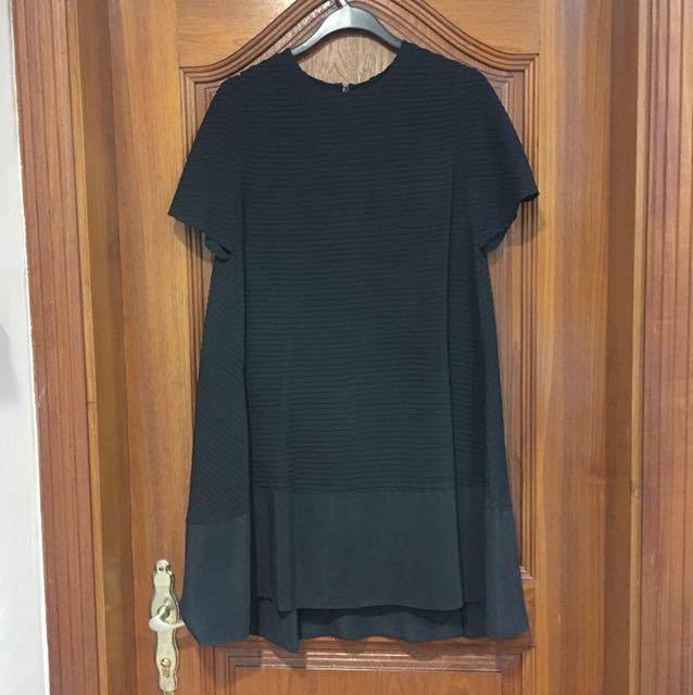 Black Balenciaga Silk Dress