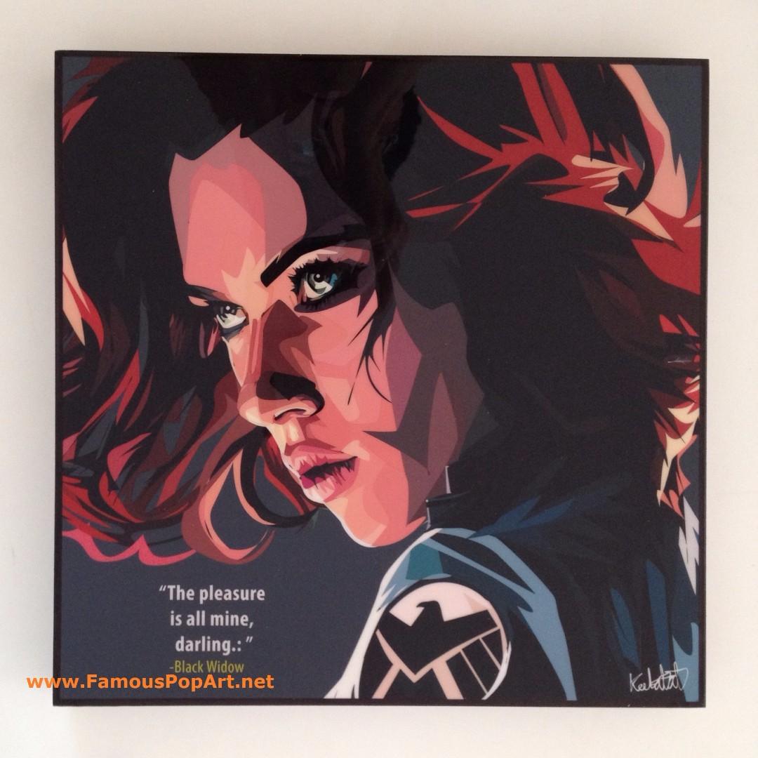 Black Widow PopArt! Portrait Wall Decoration Pop Art