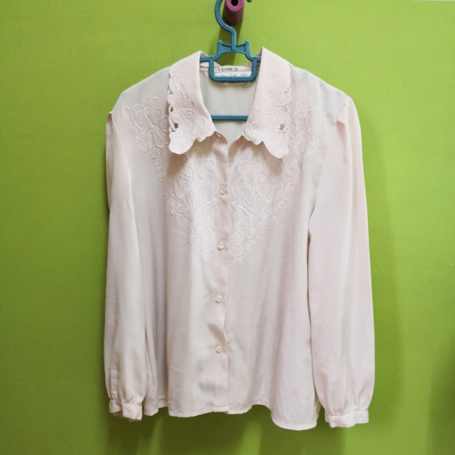 Blouse Top Soft Pink