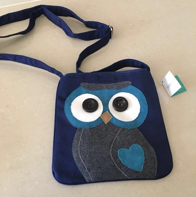Blue Owl Sling Bag