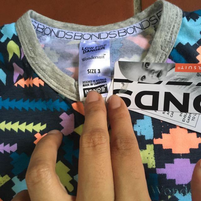 Bonds nwt size 3