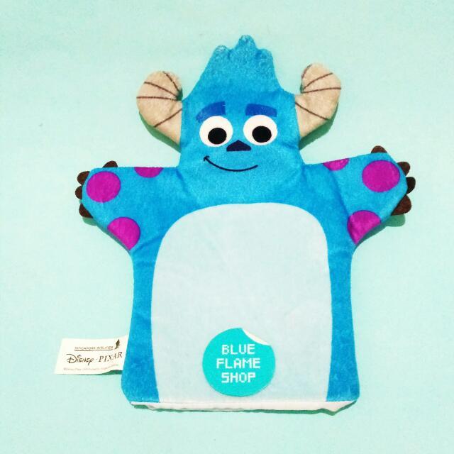boneka tangan sulley monster inc university original disney pixar
