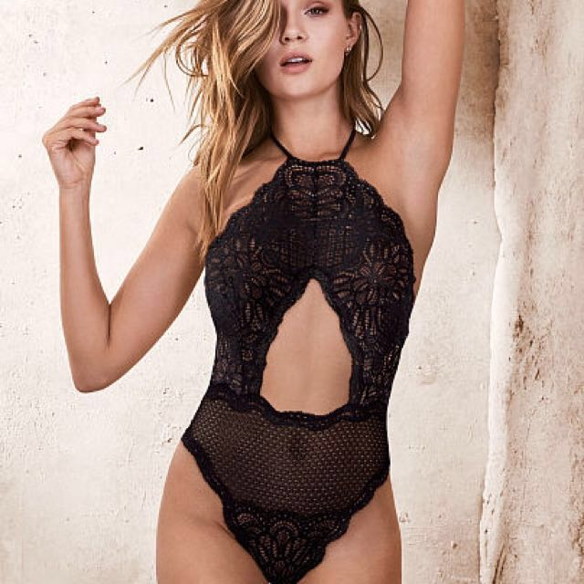 Brand New Victoria's Secret Cutout Highneck Teddy (Authentic)