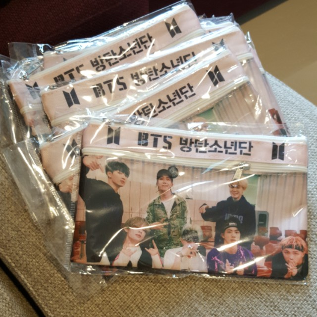 BTS ~ DOUBLE ZIP PENCIL CASE ~ READY STOCK