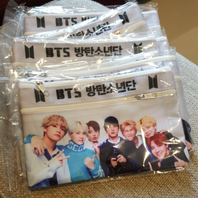 BTS ~ DOUBLEZIP PENCIL CASE~ READY STOCK