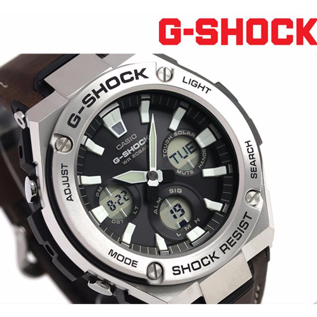 c1b2ee609 Casio G-Shock G-Steel Super Illuminator Leather Strap G-Steel Gsteel Tough  Solar Watch GST-S130L-1A GST-S130L GST-S130 GSTS130L GSTS130, Men's  Fashion, ...