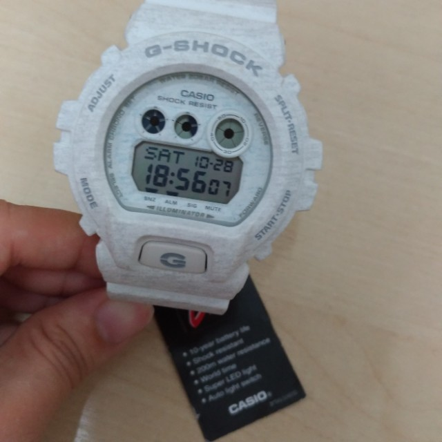 Casio G-Shock Men's White Resin Strap GD-X6900HT-7, Men's Fashion, Watches on Carousell