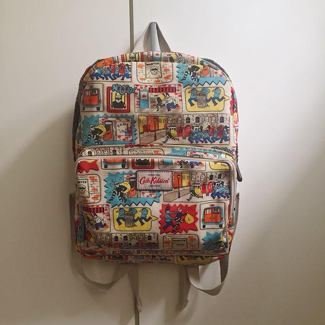 Cath Kidston Backpack in Patterned Beige