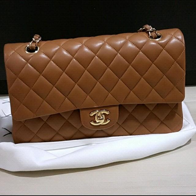 87684775fb66 Chanel classic medium/large dark caramel, Luxury, Bags & Wallets on  Carousell