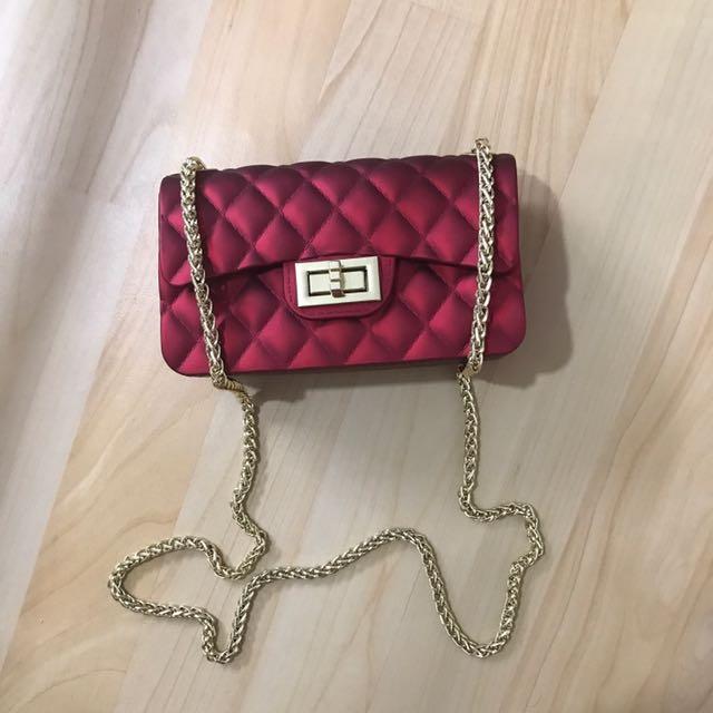 Chanel sling bag red