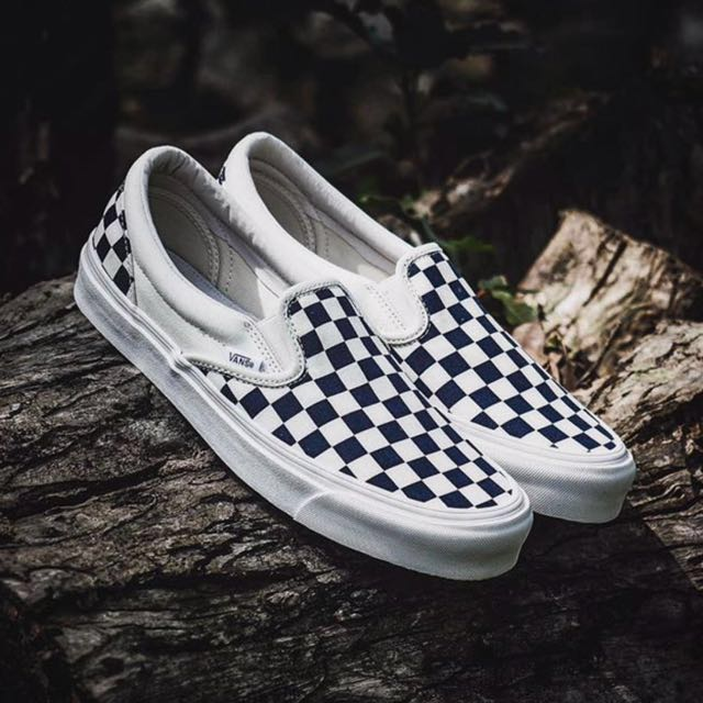 7440265825 CHEAPEST  Vans   Vans Vault OG Checkerboard B W Slip On