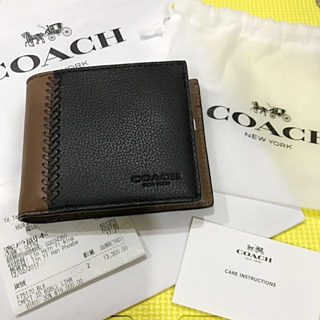 Coach 100%正品男款皮夾#幫你省運費