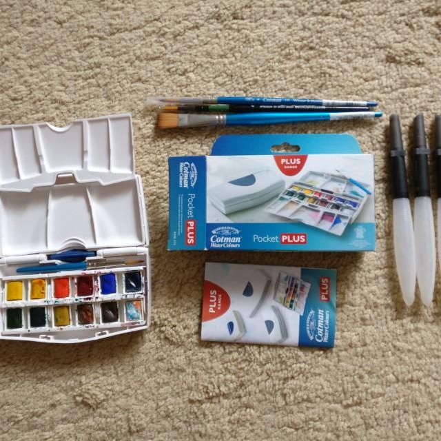 Cotman Watercolor + Bonus 6 Kuas