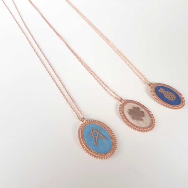 Enamel plated necklaces