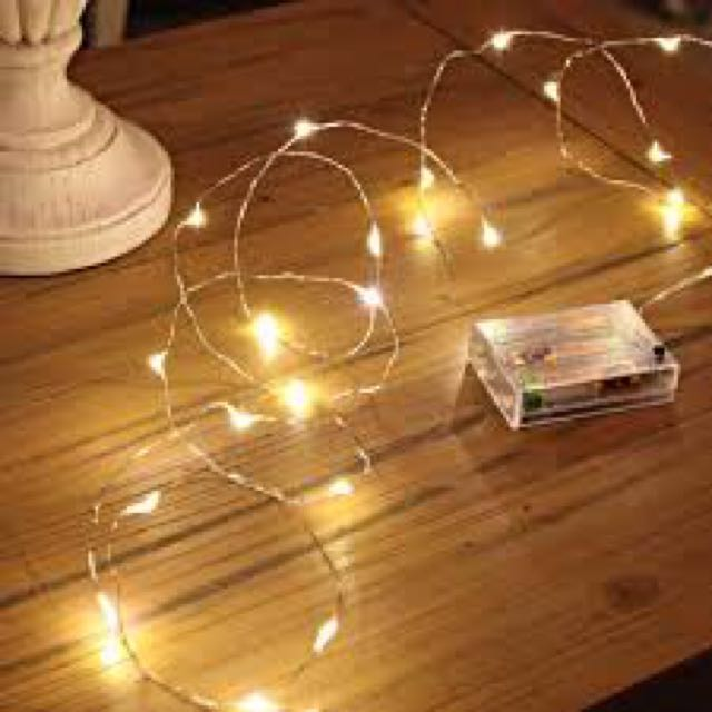 Fairy Lights (warm or white) battery operated