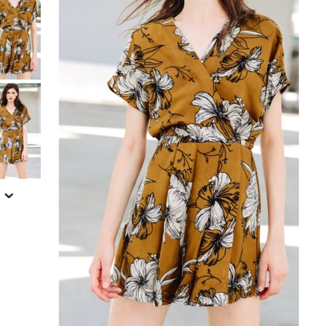 829a690475d3 FASHMOB - HAILEE PLAYSUIT IN MUSTARD